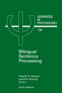 Ebook in inglese Bilingual Sentence Processing -, -