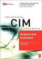 CIM Coursebook 06/07 Analysis and Evaluation