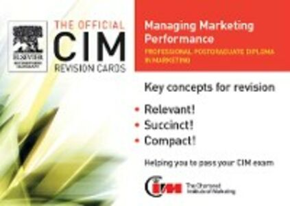Ebook in inglese CIM Revision Cards: Managing Marketing Performance Knowledge, marketing