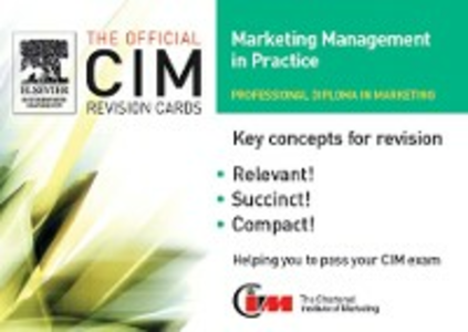 Ebook in inglese CIM Revision Cards:Marketing Management in Practice 05/06 Knowledge, marketing