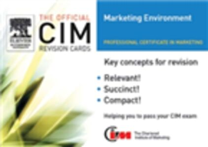 Ebook in inglese CIM Revision card: Marketing Environment 05/06 Knowledge, Marketing