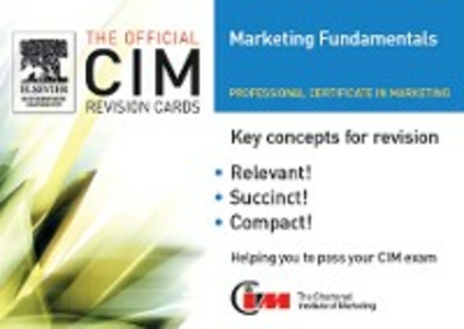 Ebook in inglese CIM Revision Cards 05/06: Marketing Fundamentals Knowledge, marketing