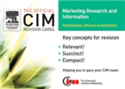 Ebook in inglese CIM Revision Cards 05/06: Marketing Research and Information Knowledge, marketing