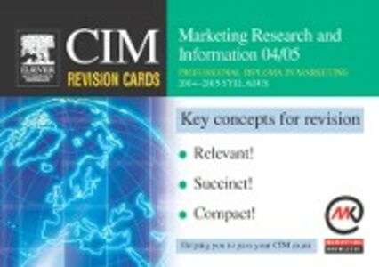Ebook in inglese CIM Revision Cards: Marketing Research and Information 04/05 Knowledge, Marketing