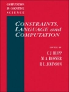Ebook in inglese Constraints, Language and Computation -, -