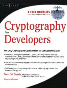 Foto Cover di Cryptography for Developers, Ebook inglese di Tom St Denis, edito da Elsevier Science