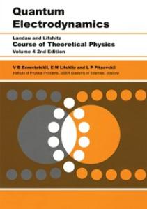 Ebook in inglese Quantum Electrodynamics Berestetskii, V B , Lifshitz, E.M. , Pitaevskii, L. P.
