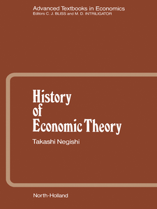Ebook in inglese History of Economic Theory Negishi, T.