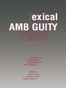Ebook in inglese Lexical Ambiguity Resolution -, -