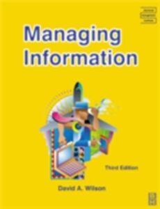 Ebook in inglese Managing Information Wilson, David A