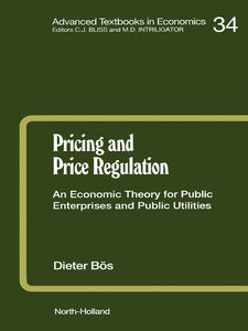 Ebook in inglese Pricing and Price Regulation Bös, D.