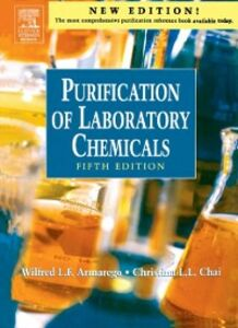 Foto Cover di Purification of Laboratory Chemicals, Ebook inglese di W.L.F. Armarego,Christina Chai, edito da Elsevier Science