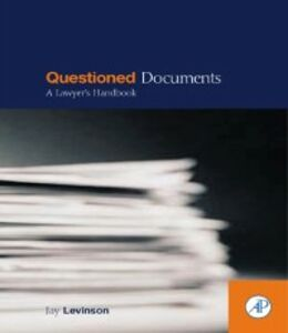 Ebook in inglese Questioned Documents Levinson, Jay