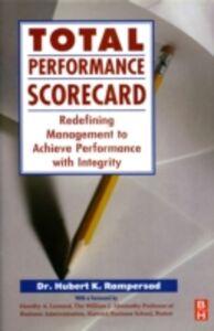 Ebook in inglese Total Performance Scorecard Rampersad, Hubert K.