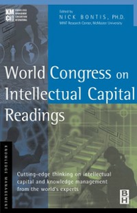Ebook in inglese World Congress on Intellectual Capital Readings -, -