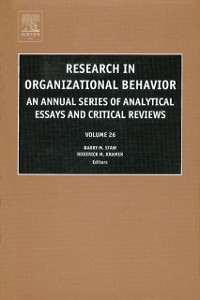 Ebook in inglese Research in Organizational Behavior -, -