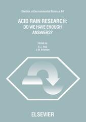 Acid Rain Research: Do We Have Enough Answers?
