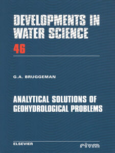 Ebook in inglese Analytical Solutions of Geohydrological Problems