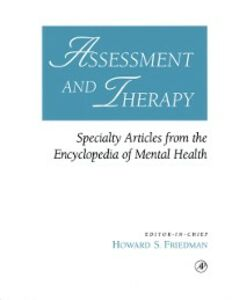Ebook in inglese Assessment and Therapy -, -