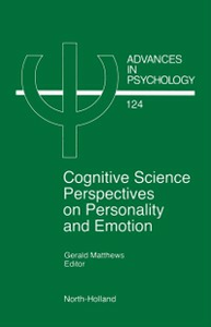 Ebook in inglese Cognitive Science Perspectives on Personality and Emotion -, -