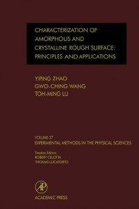 Ebook in inglese Characterization of Amorphous and Crystalline Rough Surface -- Principles and Applications -, -