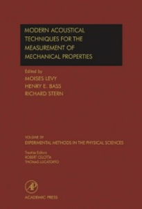 Ebook in inglese Modern Acoustical Techniques for the Measurement of Mechanical Properties -, -