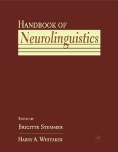 Ebook in inglese Handbook of Neurolinguistics -, -