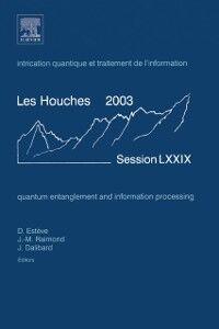 Foto Cover di Quantum Entanglement and Information Processing, Ebook inglese di  edito da Elsevier Science