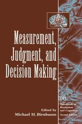 Measurement, Judgment, and Decision Making