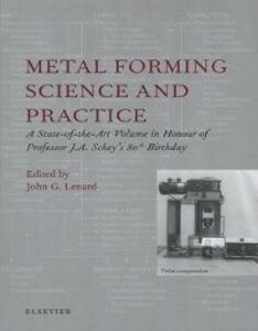 Ebook in inglese Metal Forming Science and Practice Lenard, J.G.