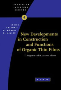 Ebook in inglese New Developments in Construction and Functions of Organic Thin Films -, -