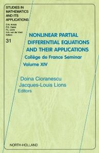 Foto Cover di Nonlinear Partial Differential Equations and Their Applications, Ebook inglese di Jaques-Louis Lions,Doina Cioranescu, edito da Elsevier Science