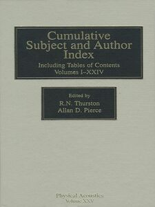 Ebook in inglese Cumulative Subject and Author Index, Including Tables of Contents Volumes 1-23