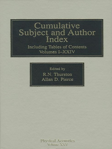 Ebook in inglese Cumulative Subject and Author Index, Including Tables of Contents Volumes 1-23 -, -