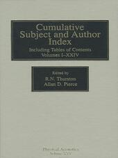 Cumulative Subject and Author Index, Including Tables of Contents Volumes 1-23