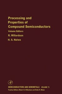 Ebook in inglese Processing and Properties of Compound Semiconductors -, -