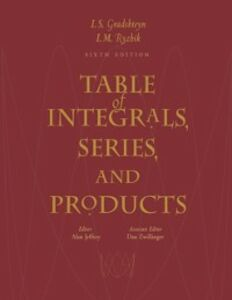 Ebook in inglese Table of Integrals, Series, and Products -, -