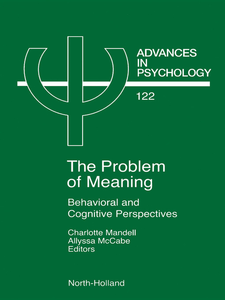 Ebook in inglese Problem of Meaning Behavioural and Cognitive Perspectives -, -