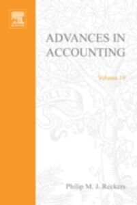 Foto Cover di Advances in Accounting, Ebook inglese di  edito da Elsevier Science