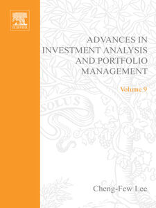 Ebook in inglese Advances in Investment Analysis and Portfolio Management, Volume 9 -, -