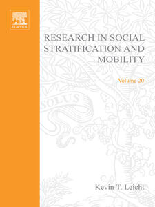 Ebook in inglese Research in Social Stratification and Mobility