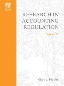 Foto Cover di Research in Accounting Regulation, Ebook inglese di Gary Previts, edito da Elsevier Science