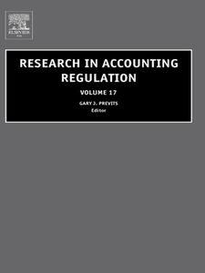Foto Cover di Research in Accounting Regulation, Ebook inglese di Gary Previts,Tom Robinson, edito da Elsevier Science