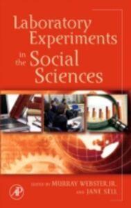 Foto Cover di Laboratory Experiments in the Social Sciences, Ebook inglese di  edito da Elsevier Science