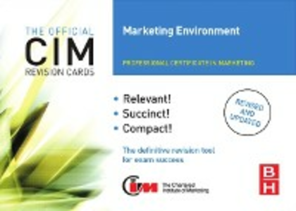 Ebook in inglese CIM Revision Cards Marketing Environment Oldroyd, Mike