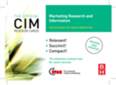 Ebook in inglese CIM Revision Cards Marketing Research and Information Williams, John