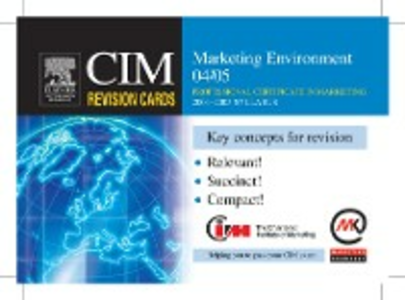 Ebook in inglese CIM Revision Cards: Marketing Environment 04/05 Knowledge, Marketing