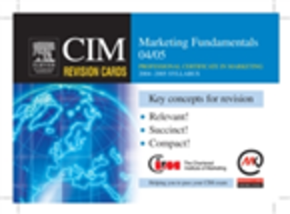 Ebook in inglese CIM Revision Cards: Marketing Fundamentals 04/05 Knowledge, Marketing