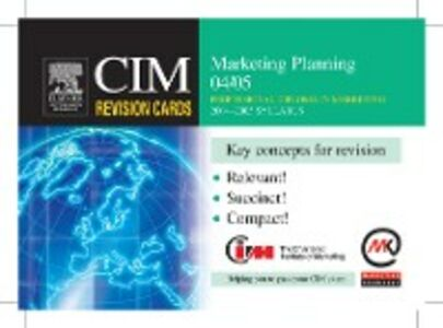 Foto Cover di CIM Revision Cards: Marketing Planning 04/05, Ebook inglese di Marketing Knowledge, edito da Elsevier Science
