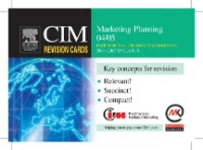 Ebook in inglese CIM Revision Cards: Marketing Planning 04/05 Knowledge, Marketing